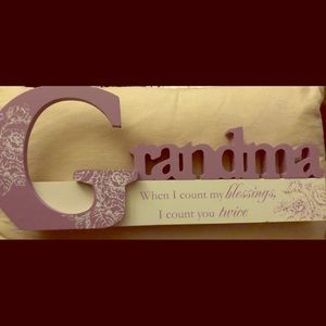 Wooden Grandma sign